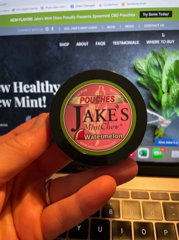 Jake's Mint Chew Watermelon Pouches 1