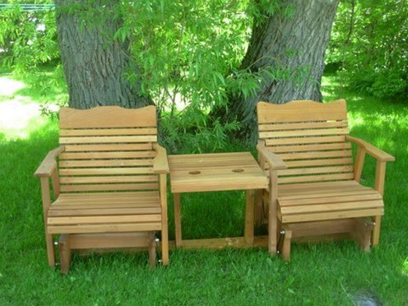 outdoor wooden glider chair online