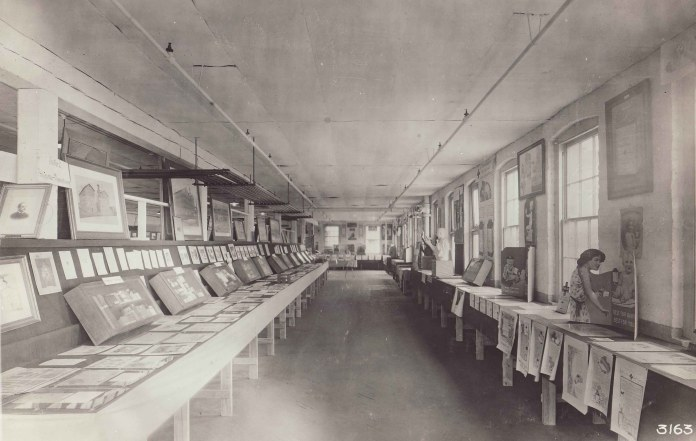 The first museum exhibit staged by Fred Kilmer, 1921 – kind of like Our Story, but less interactive and way before the internet! Image: Johnson & Johnson Archives.