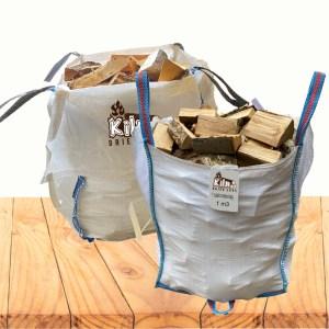 Builders Bags of Logs