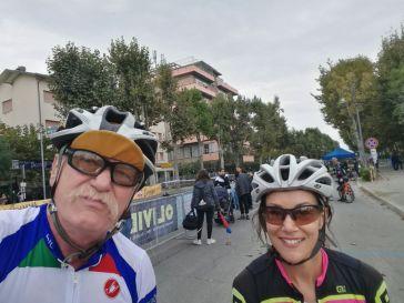 Rudi und Mirjam im Ziel
