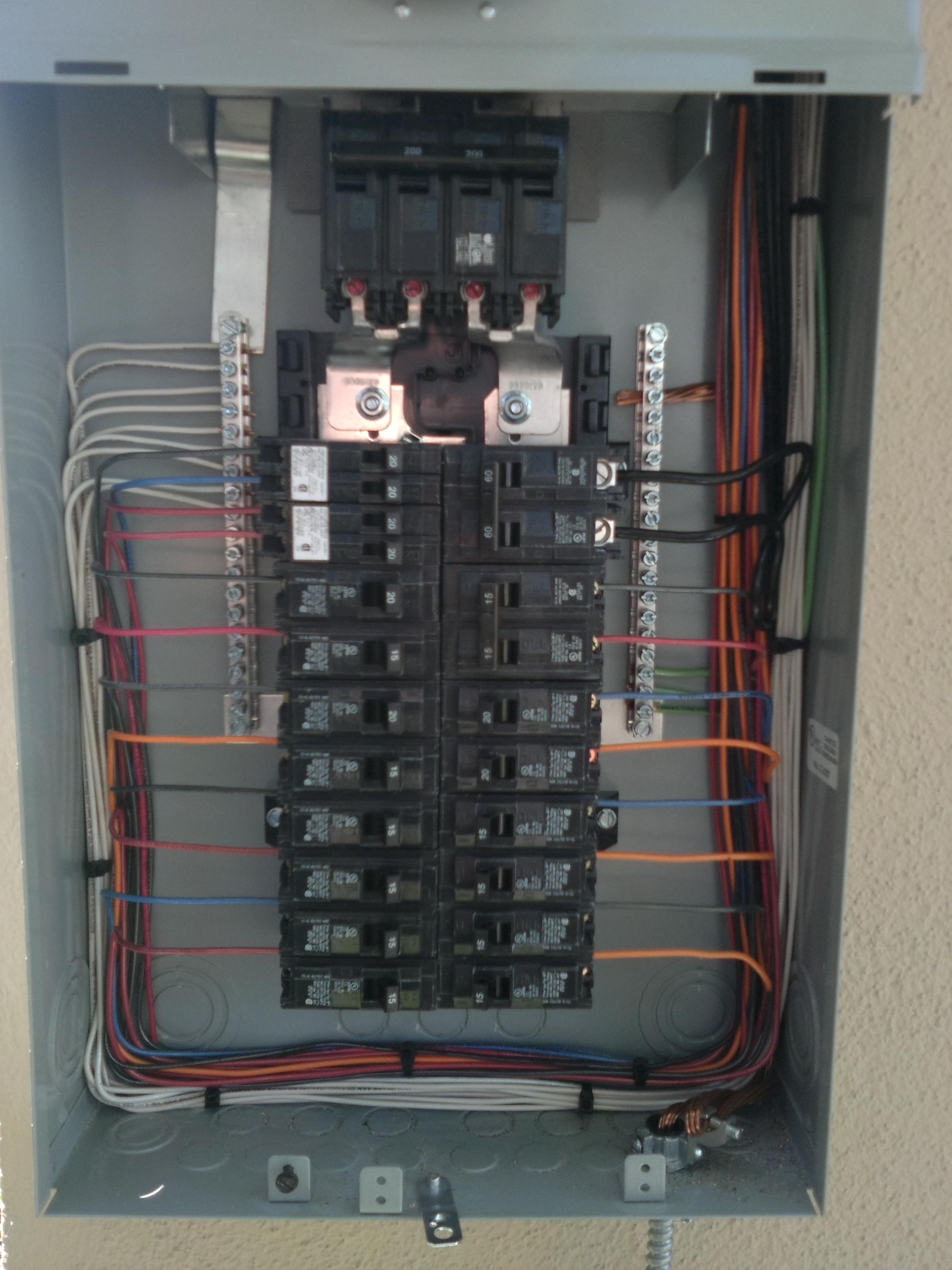 furnace wiring from breaker box