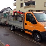 3.5t Iveco with crane and 3.5t trailer