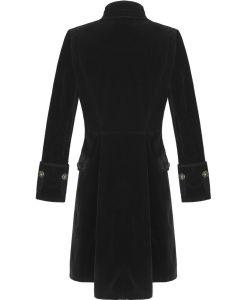 Black Velvet Goth Steampunk Victorian Frock Coat, Gothic Clothing, Jackets for Men