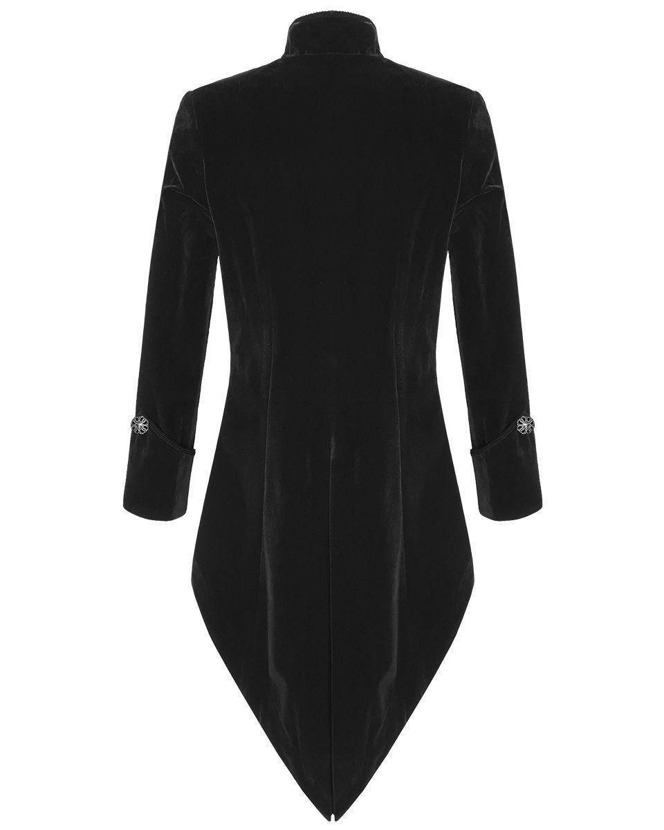Black Velvet Goth Steampunk Victorian Tail Coat Jacket ...