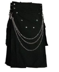 Deluxe Utility Fashion Kilt With Chrome Chain, Kilts, Utility, best kilts, excellent kilts