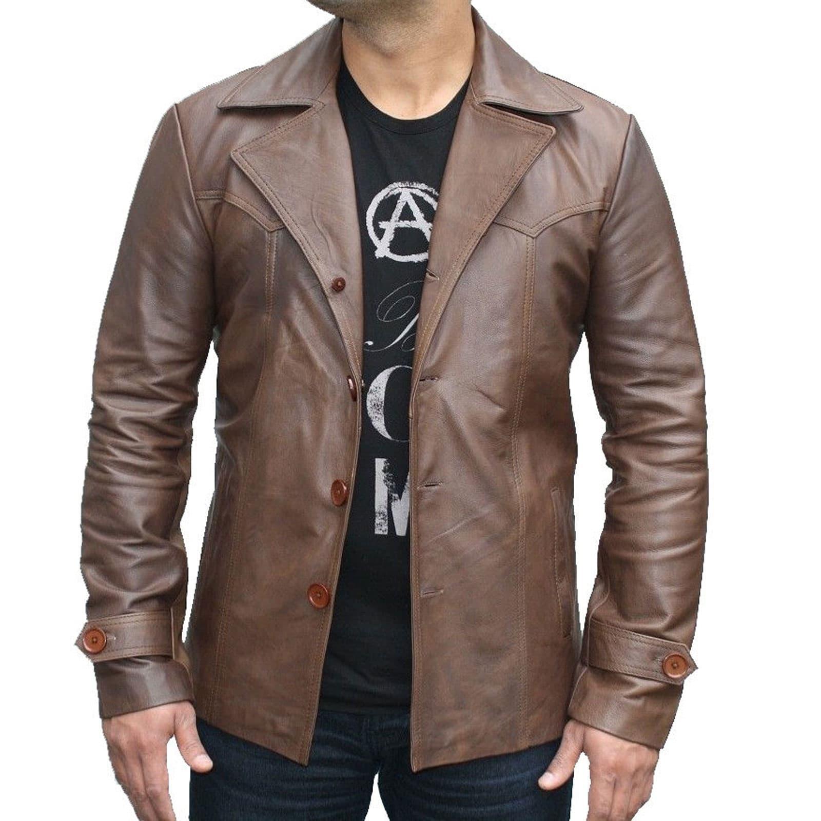 70's Vintage Men's Leather Jacket