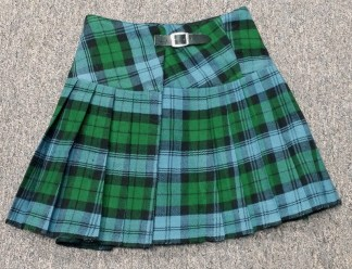 Campbell Ancient Homespun Kilted Mini Skirts