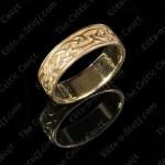 Mens 14K Gold Celtic Wedding Band