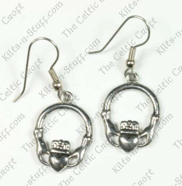 Stainless Steel Classic Claddagh Earrings