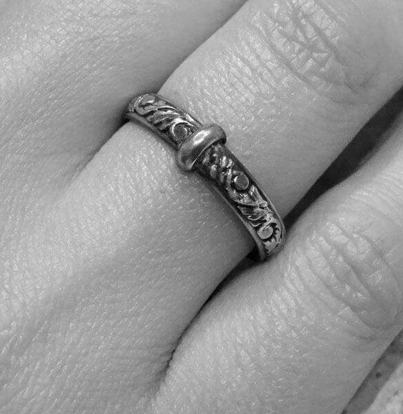 Thistle Filigree Ring