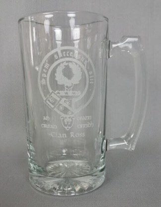 Ross Clan Crest 26 oz. Beer Mug