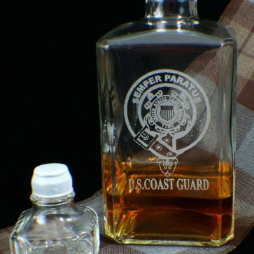 U.S. Coast Guard Whiskey and Liquor Decanter