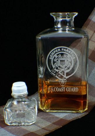 U.S. Coast Guard Whiskey and Liquor Decanter