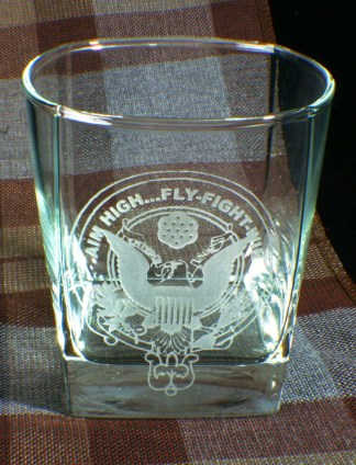 U.S. Air Force Low Ball Whiskey Glass