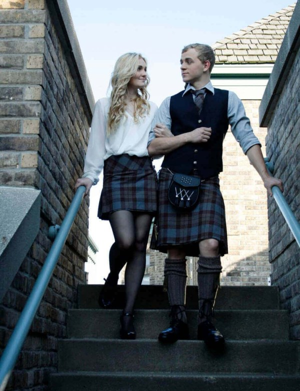 OUTLANDER Casual Kilt Authentic Premium Wool Tartan