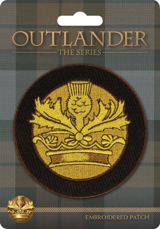 OUTLANDER Crown & Thistle Embroidered Patch