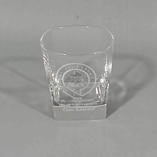 Ramsey Clan Crest Whisky Glass