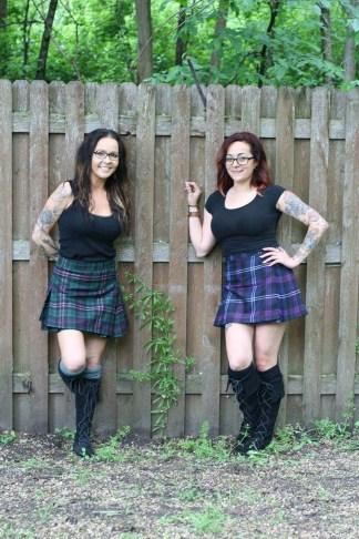 Poly/Viscose Economy Kilted Mini Skirts