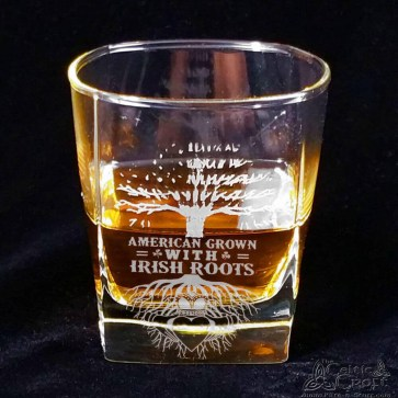 American Grown - Irish Roots - Whiskey Glass