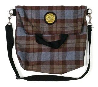 OUTLANDER Tartan Messenger-Style Tote Bag Poly-Viscose