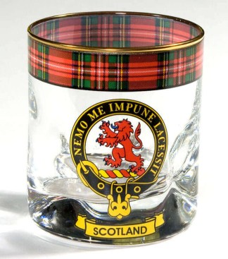 Scotland Tartan Whisky Glass