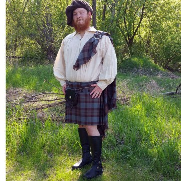 OUTLANDER Fly Plaid Poly/Viscose Tartan
