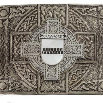 Crawford Coat of Arms Kilt Belt Buckle