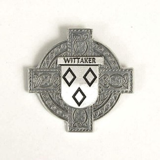 Wittaker (English) CLEARANCE Coat of Arms Pewter Cap Badge Brooch