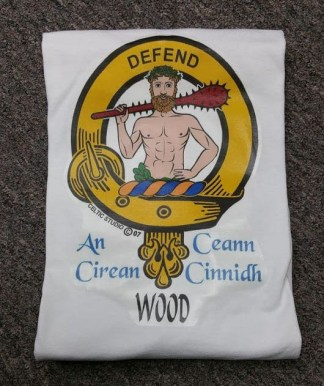 Wood In-Stock Clan Crest T-Shirts, Med Clearance