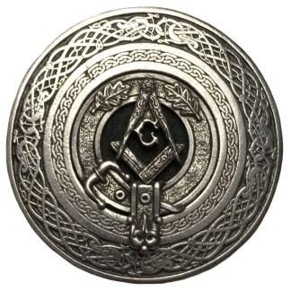 Masonic Round Pewter Kilt Belt Buckle