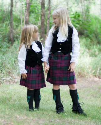 Poly Viscose Kid Kilts