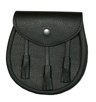 Basic Black Leather Sporran