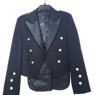 SOLD Black Prince Charlie Jacket 42 Long Retired Rental