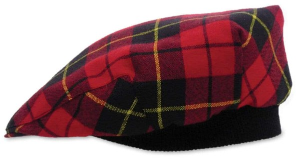 Tartan Driving Cap or Golf Cap - Spring Weight