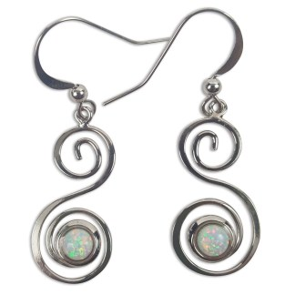 Opal Spiral Earrings