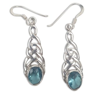 Celtic Knot Sapphire Earrings