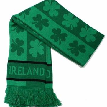 Ireland Knitted Shamrock Scarf