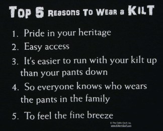 Top 5 Reasons to Wear a Kilt T-Shirt
