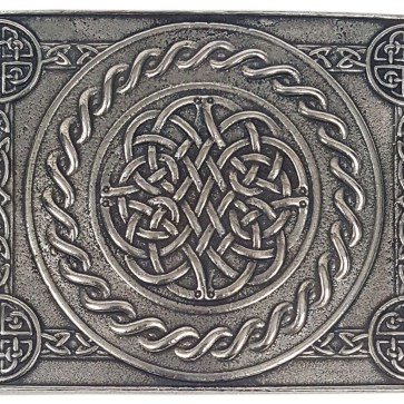 Celtic Weave Pewter Kilt Belt Buckle