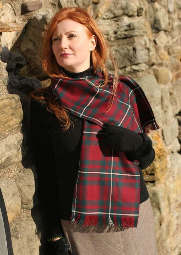 Medium Weight Premium Wool Tartan Scarf