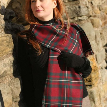 Medium Weight Premium Wool Tartan Scarf