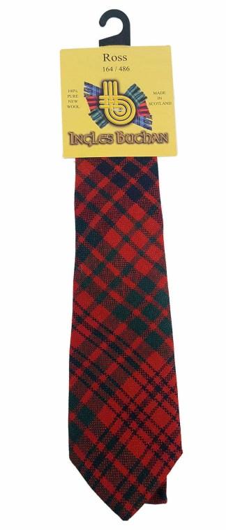 Ross Red Modern Child Size Tartan Tie