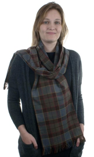 OUTLANDER Poly/Viscose Tartan Scarves