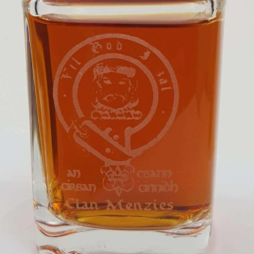 Menzies Clan Crest Shot Glasses-Set of 4