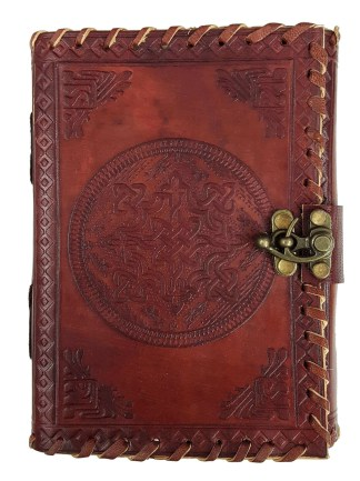 Leather Bound Celtic Knot Journal