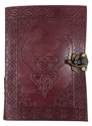 Leather-Bound Celtic Love Birds Journal