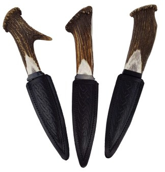 Stag Horn Sgian Dubh with Stainless Steel Blade