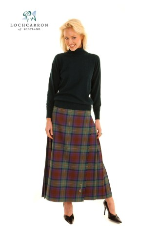 Medium Weight Premium Wool Hostess Kilted Skirt (Tartan List D)