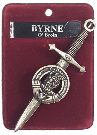 Irish Family Crest Kilt Pin
